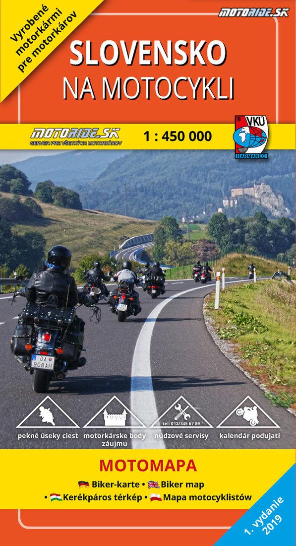 Mapa Slovensko na motocykli 2019 obalka