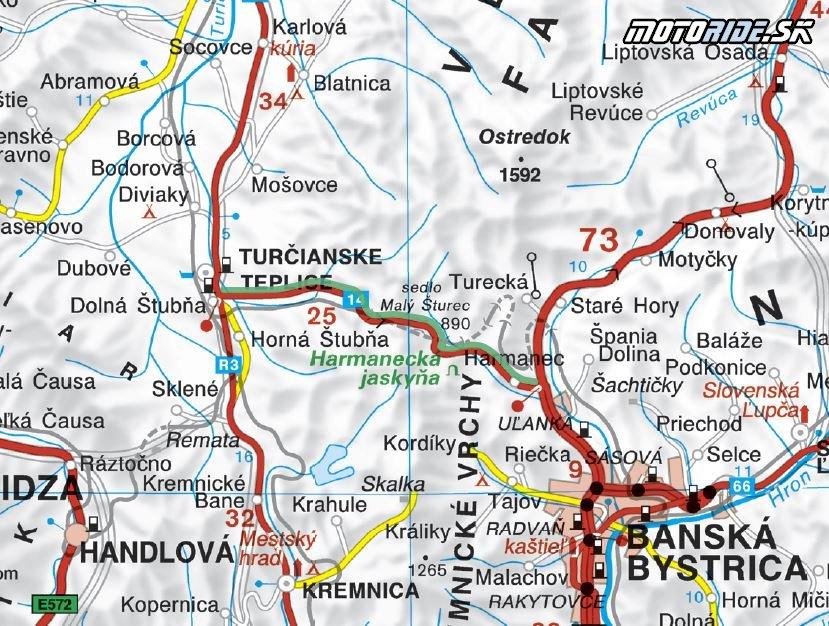 mapa zvyraznena cesta ukazka1