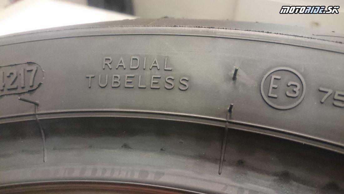 Konštrukcia: Radiálna bezdušová - Označovanie moto pneumatík - význam, rozmery, indexy nosnosti, rýchlosti