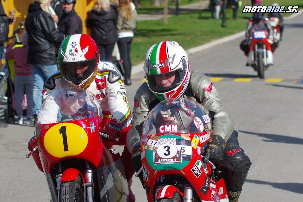 Giacomo Agostini - Holíčsky zámocký okruh 2018 - preteky veteránov na mestskom okruhu
