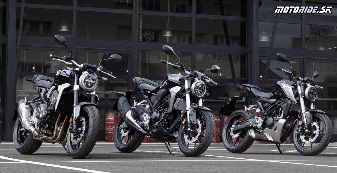 Zľava: CB1000R, CB300R a CB125R