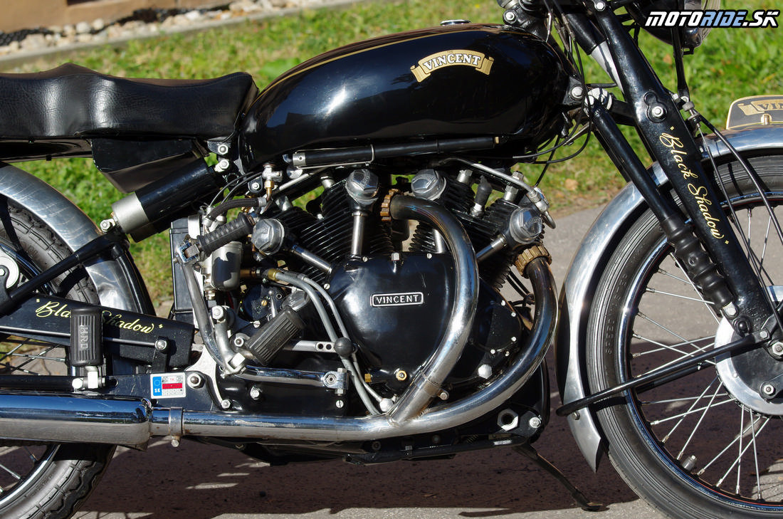 Pokrokový 50° OHV V-twin - Vincent Black Shadow 1951 - legendárny stroj, ktorý predbehol svoju dobu