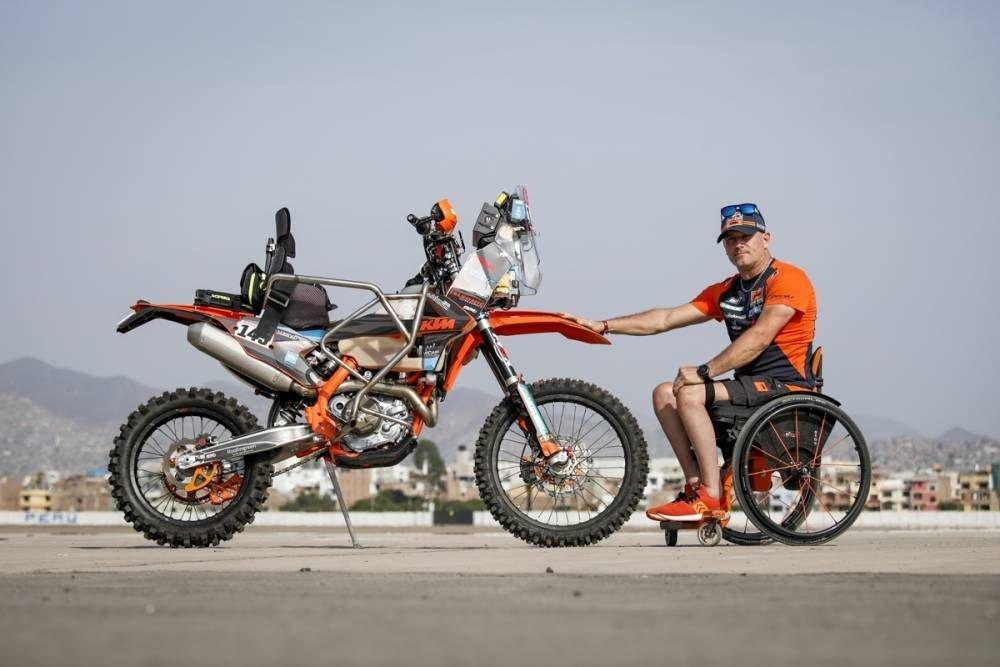 #143 Nicola Dutto - prvý ochrnutý motorkár na štarte Dakaru - Dakar 2019 - prebierky