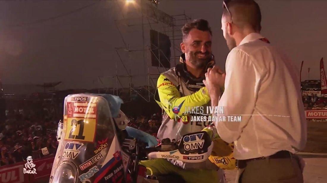 Ivan Jakeš - Slávnostné pódium Dakar 2019
