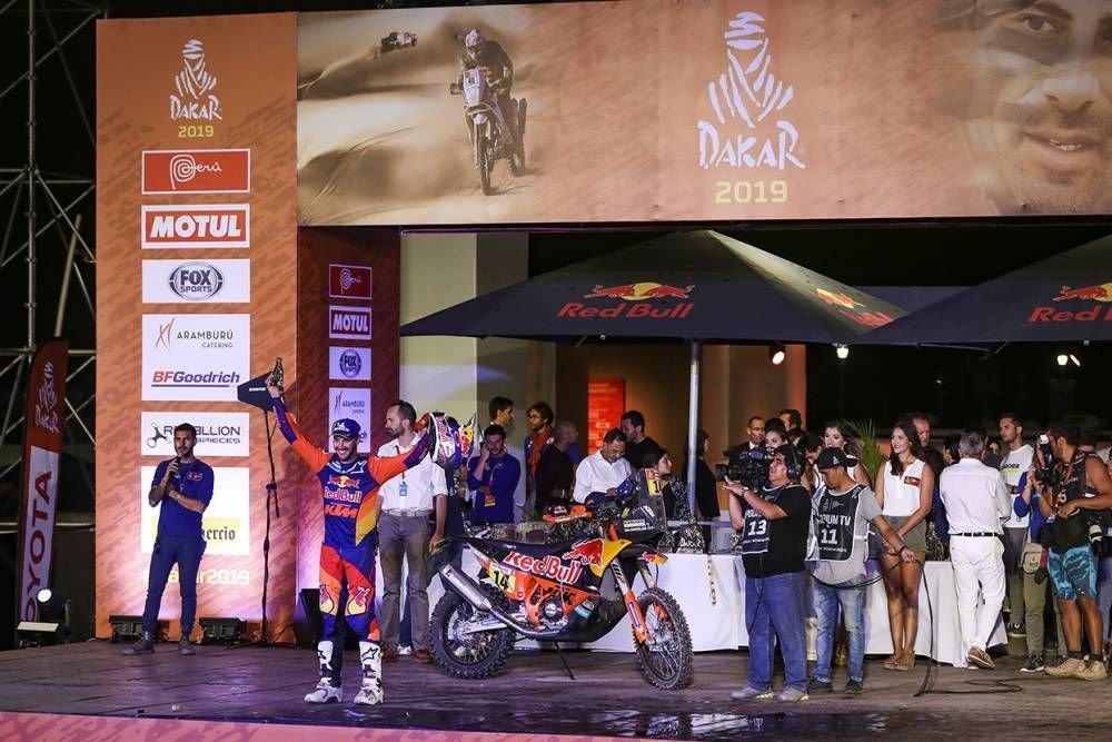 Sam Sunderland - Dakar 2019 - 10. etapa - Price víťazom etapy i Dakaru, 18. triumf pre KTM - Pisco - Lima