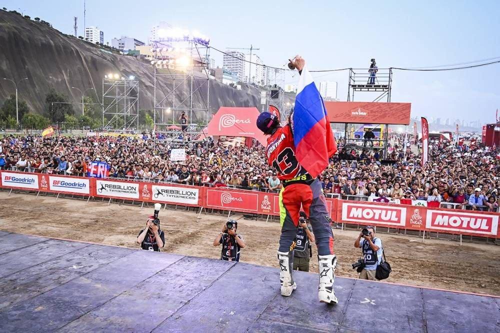 Anastasia Nifontova prvá žena v cieli bez asistencie - Dakar 2019 - 10. etapa - Price víťazom etapy i Dakaru, 18. triumf pre KTM - Pisco - Lima