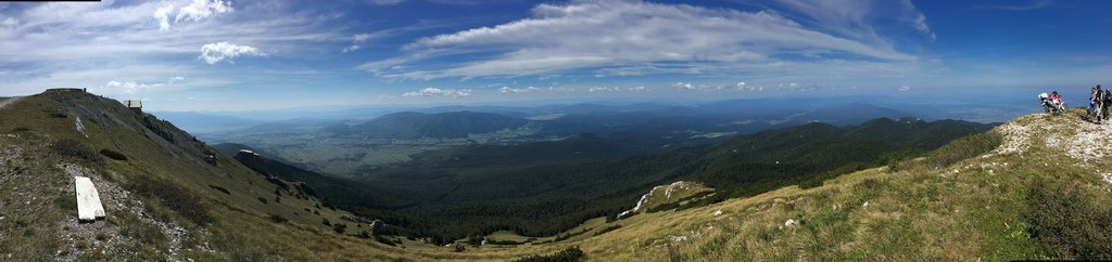 výhľad z Hory Plješevica