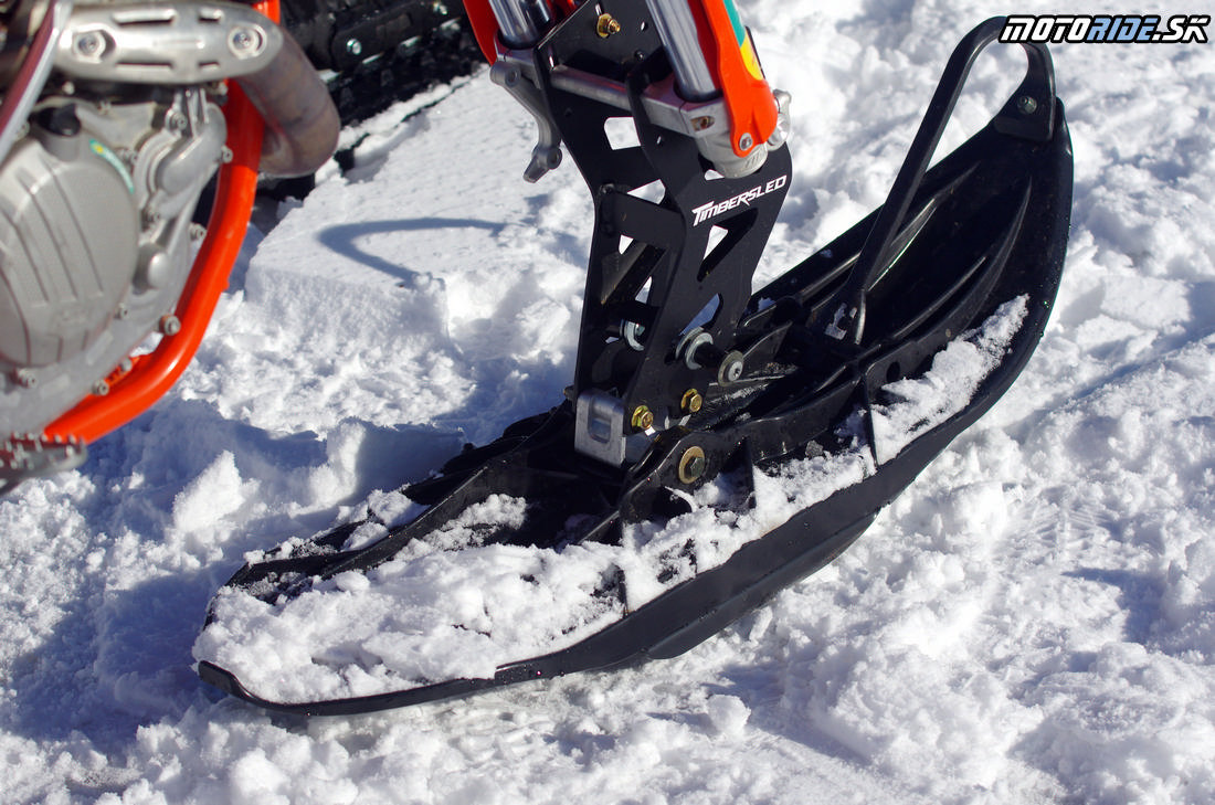 KTM 500 EXC s kitom Polaris Timbersled - Mega zábava snow bike na na snehu - Camso DTS 129