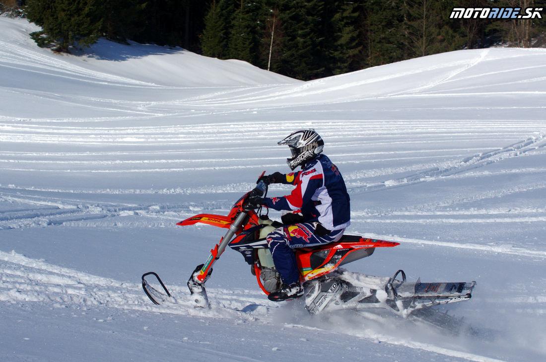 Mega zábava snow bike na na snehu - Camso DTS 129