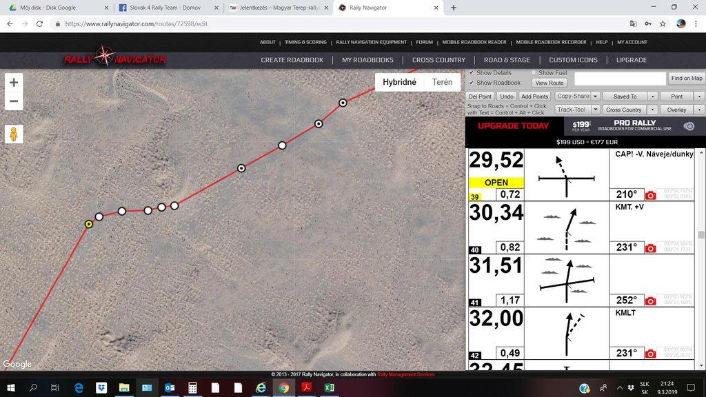 Príprava itinerárov v Rally Navigator