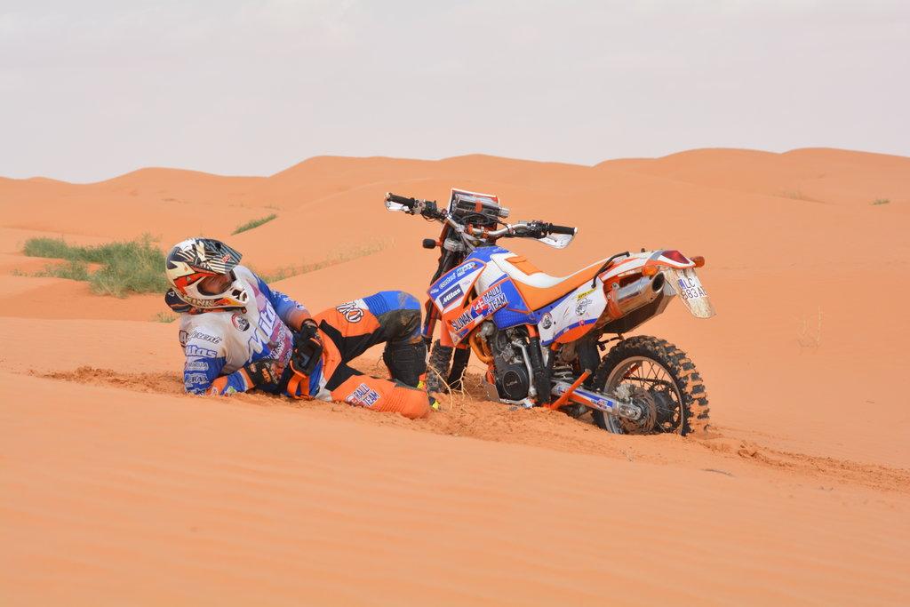 V dunách za Ksar Ghilane