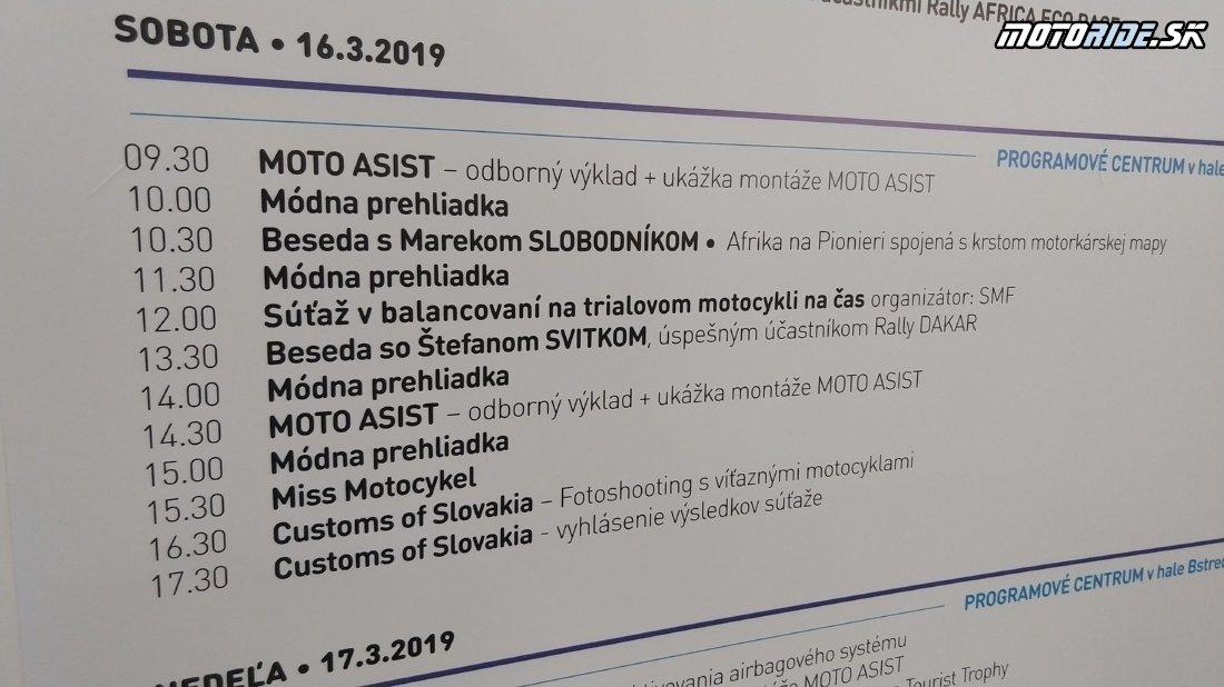 Program - Výstava Motocykel 2019, Bratislava