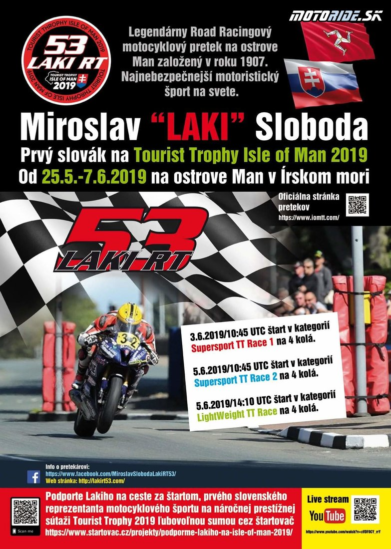 Podporme Lakiho na Tourist Trophy 2019!