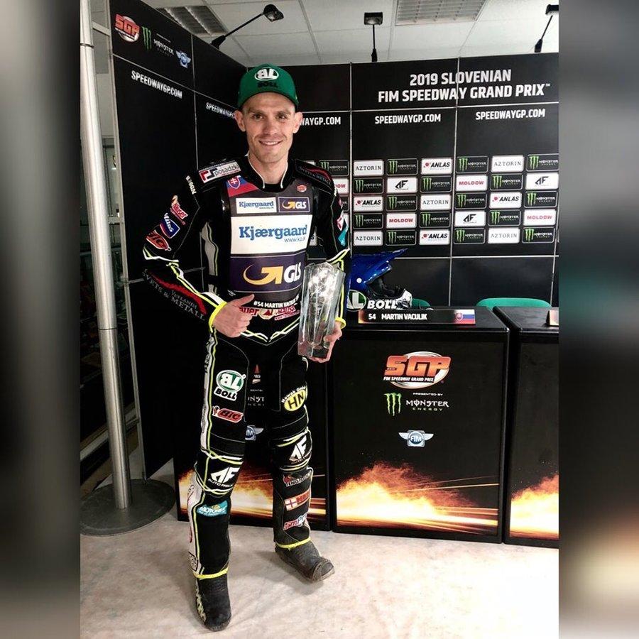 Martin Vaculík skončil druhý na MS GP speedway v Kršku