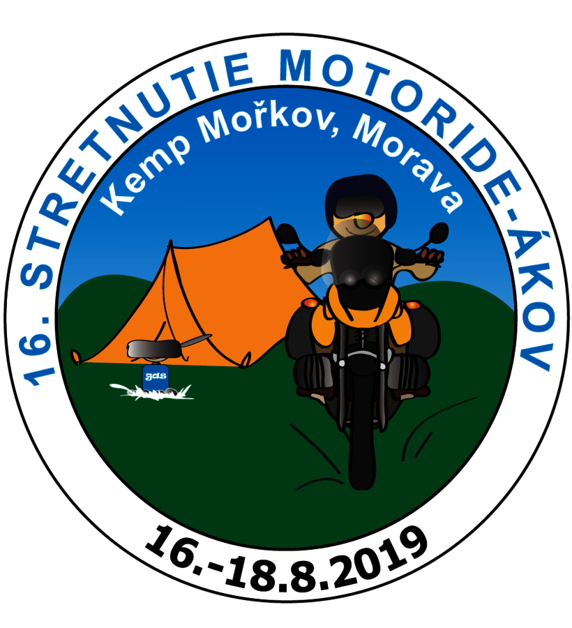 16. stretnutie motorideákov na Morave - Motoride Tour 2019, 16. - 18. 8. 2019, Mořkov