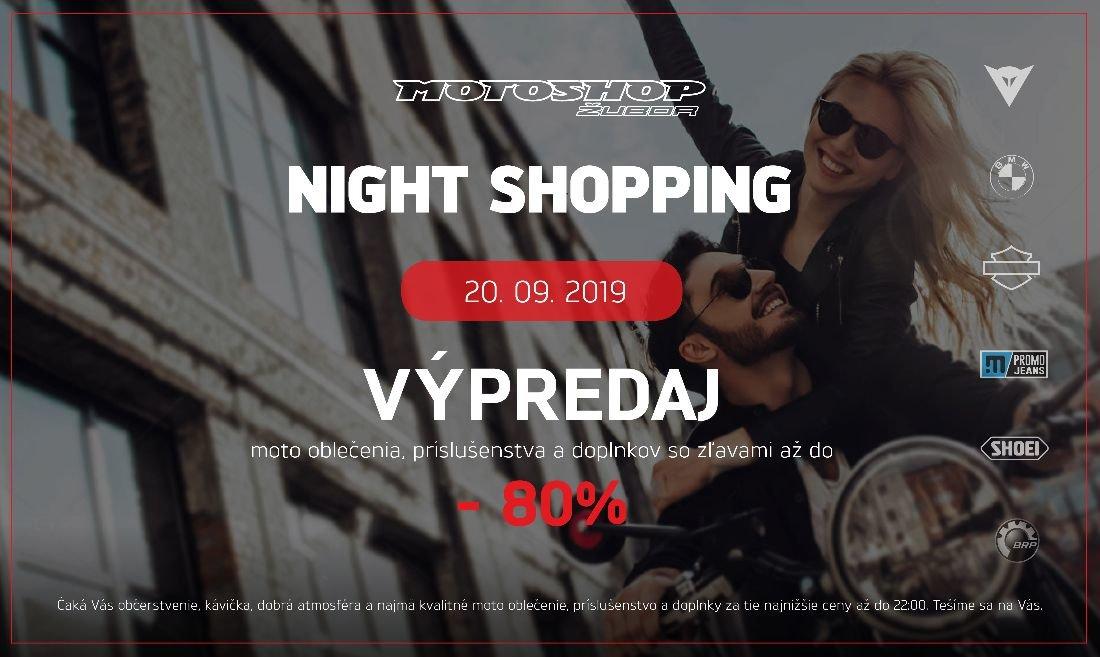 MOTOSHOP Night shopping v Motoshope Žubor Banská Bystrica