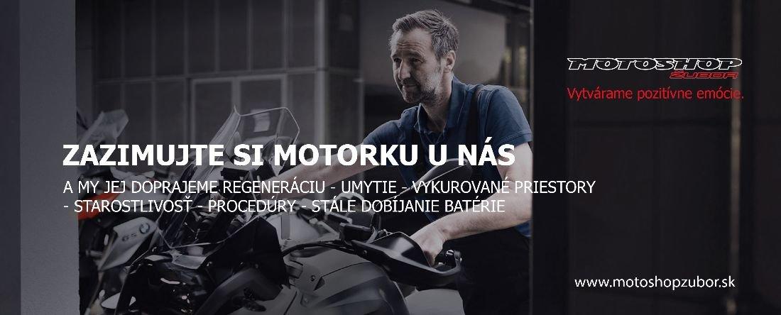 Zazimujte si motorku unás v Motoshope Žubor!