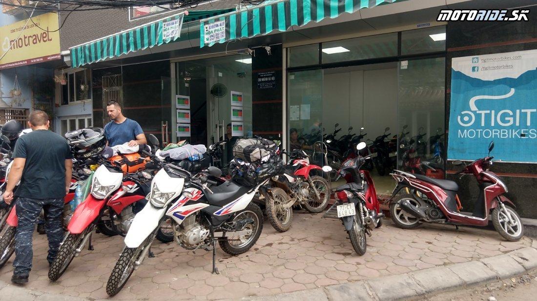 Požičovňa Tigitmotorbikes.com - Hanoj, Vietnam - Máme motorky, vyrážame z Hanoja na sever - Naživo: Vietnam moto trip 2019