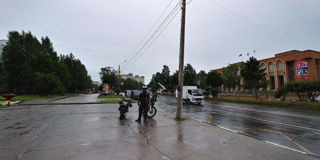 Odchod z Tyndy za dažďa