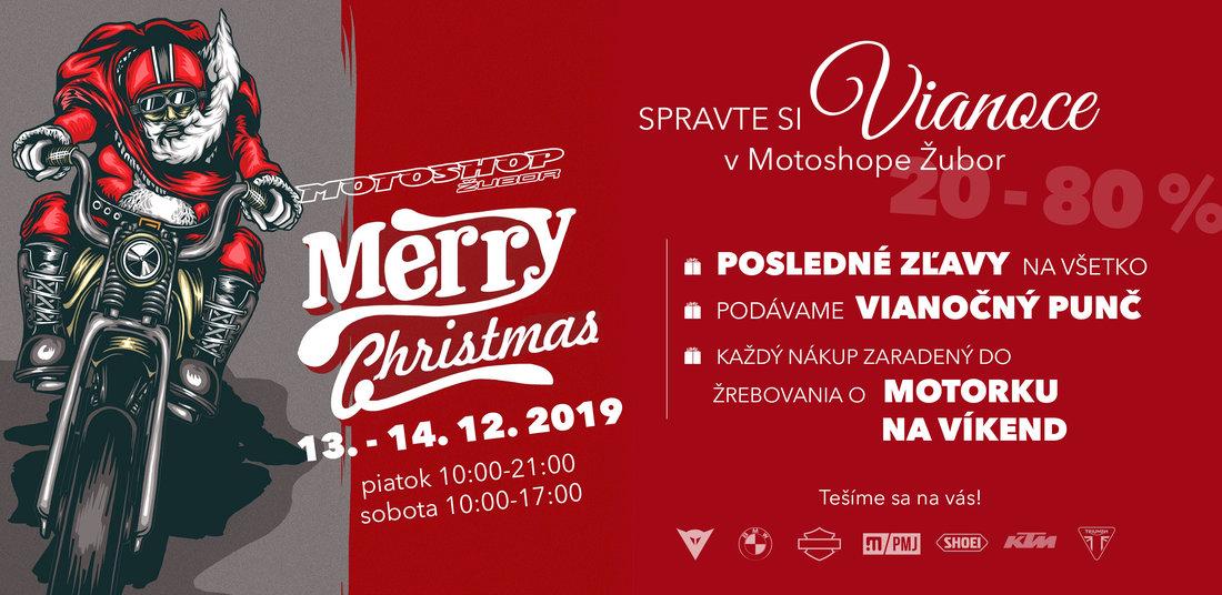 Vianočné nákupy, výborný PUNČ a súťaž o motorku na víkend v Motoshope Žubor 13-14. 12. 2019