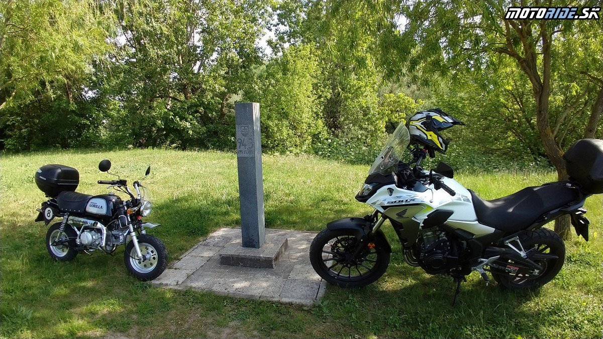 Najnižšie položené miesto Slovenska, Klin nad Bodrogom - Krížom-krážom po Slovensku na CB500X