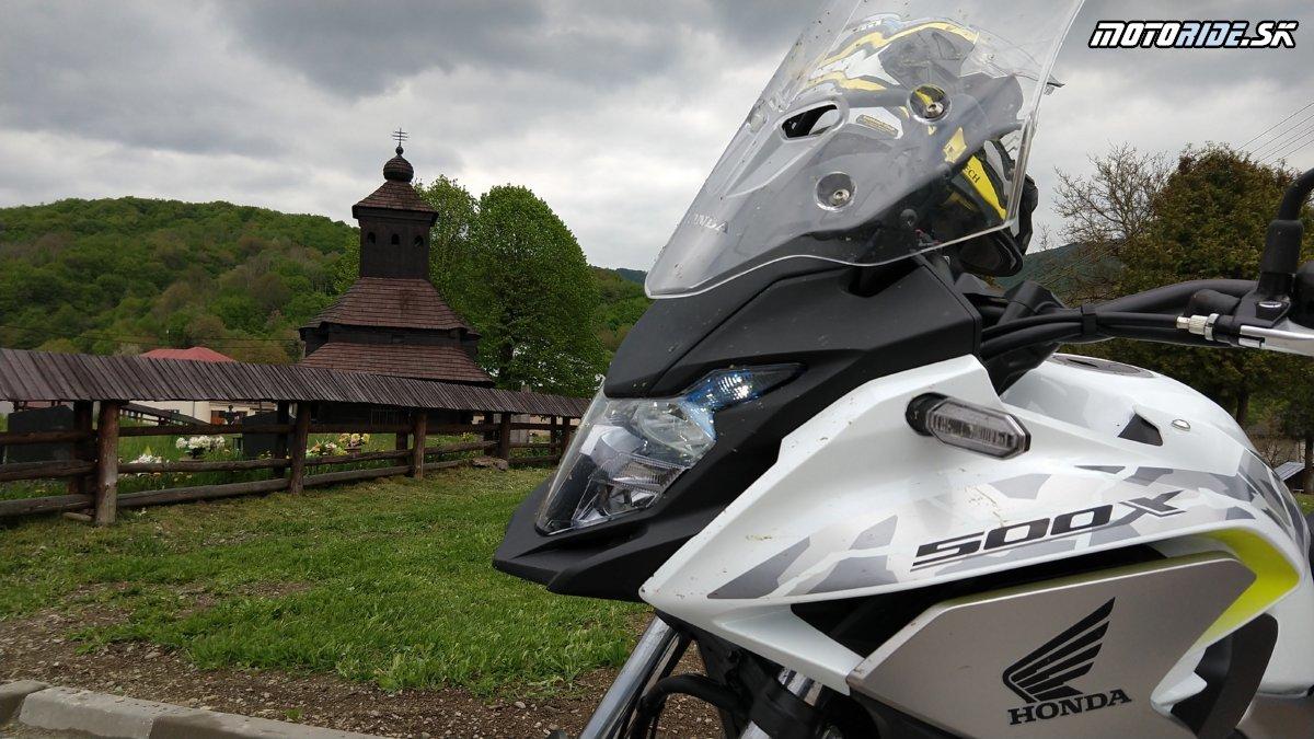 Uličské Krivé - Krížom Krážom po SR pokračuje na východ - Krížom-krážom po Slovensku na CB500X