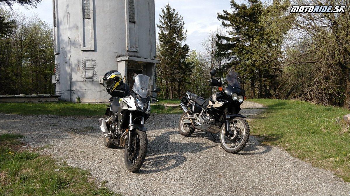 Slanské vrchy CB500X a XRV750 - Krížom-krážom po Slovensku na CB500X