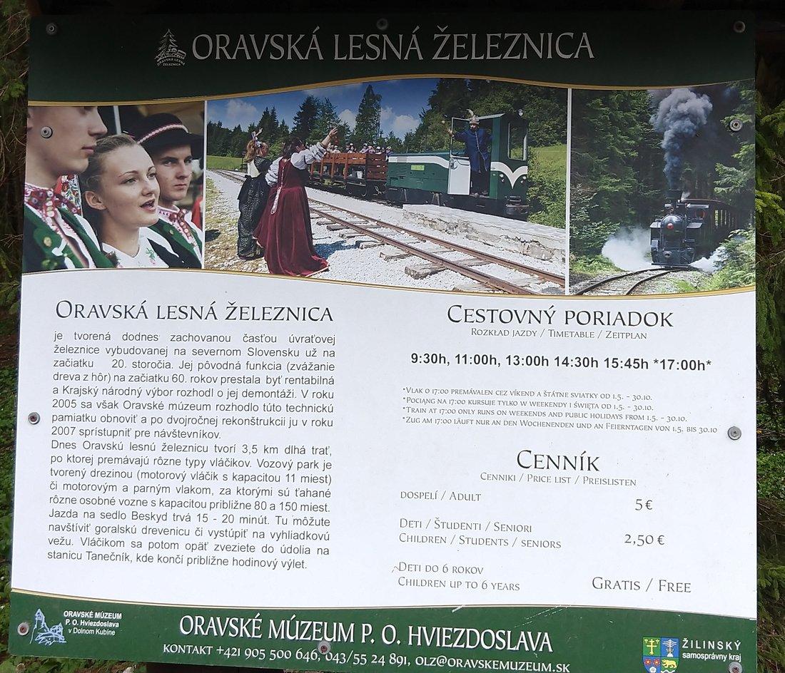 Oravská lesná železnica, Slovensko - Bod záujmu