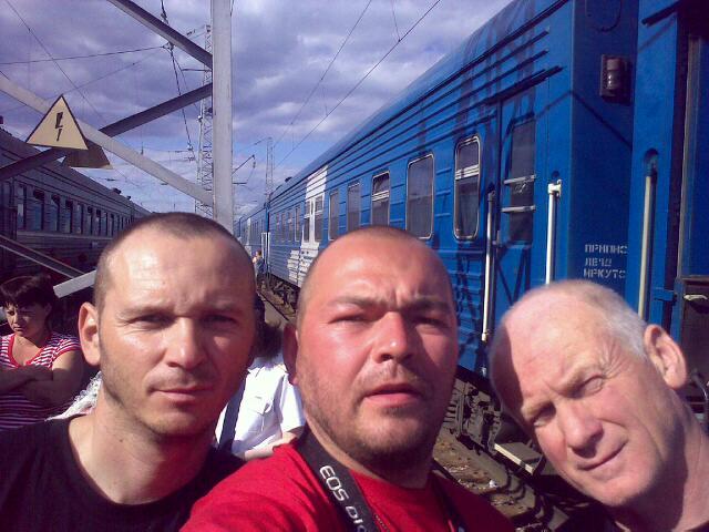 Na ceste vo vlaku - Moskva - Irkutsk