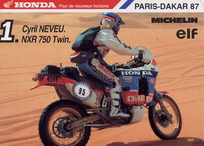 Dakar 1987 - Cyril Neveu - Honda NXR 750 Twin