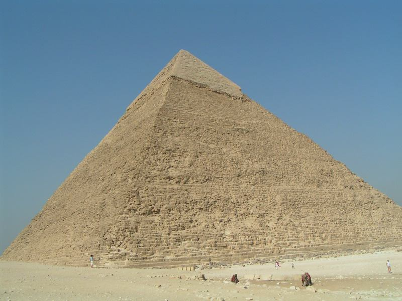 Stredná pyramída v Gize: Chafréova, Foto: Awia, september 2004