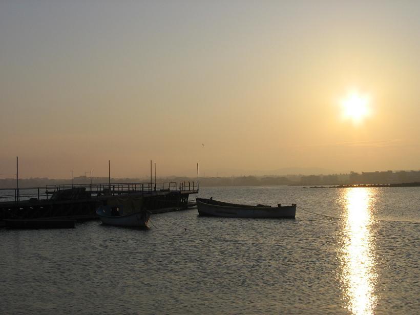 západ slnka na Slnečnom pobrezí