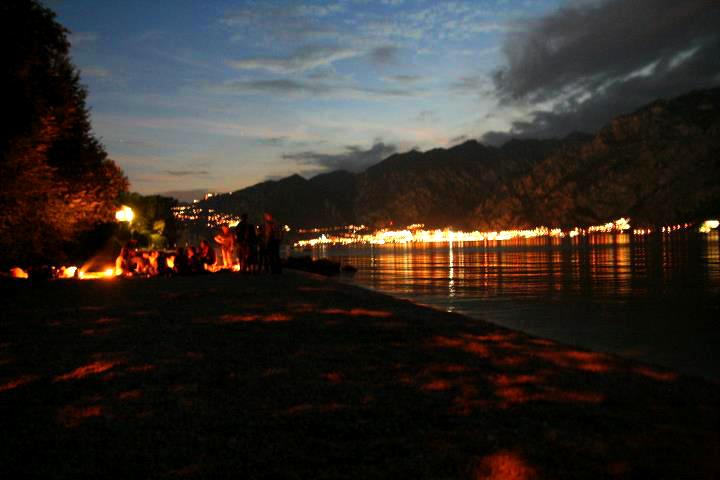 večer pri Lago di Garda