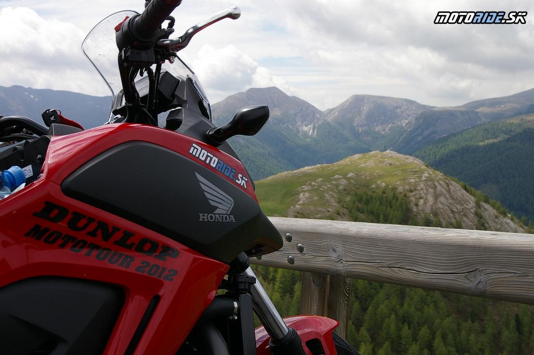 Honda NC700X v alpách