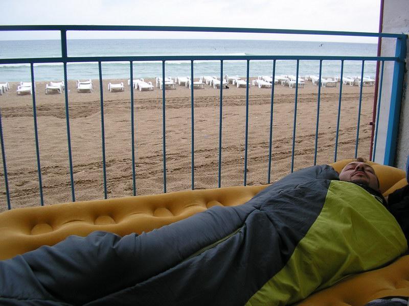 Bivak pri rumunskom pobreží