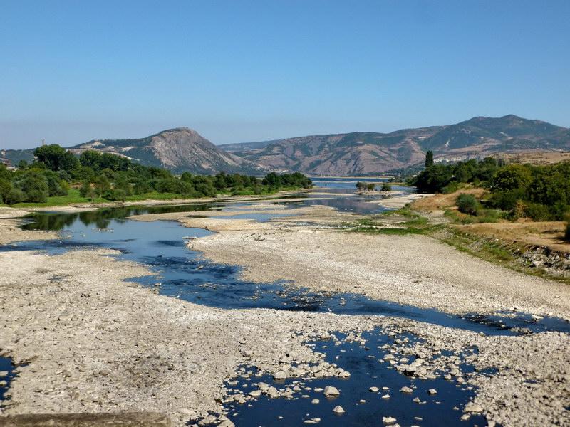 Vyschnutá rieka na bulharsko-tureckej hranici