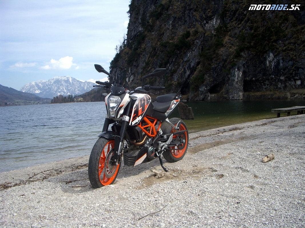 KTM Duke 390 - testovacie jazdy v okolí Salzburgu