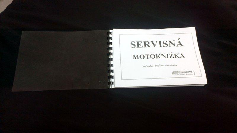 Univerzálna servisná knižka pre motorku, skúter, štvorkolku