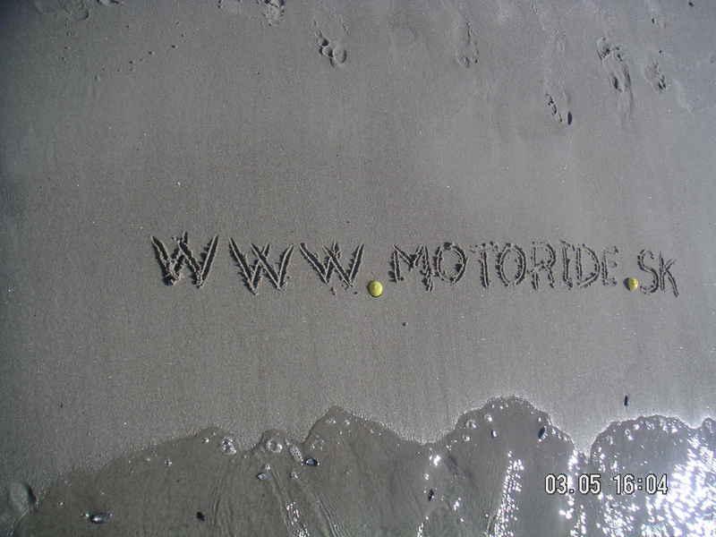 Propagácia motoride.sk pri severnom mori začiatkom mája