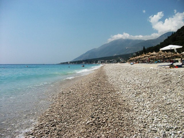 Albanska riviera - plaz Dhermi