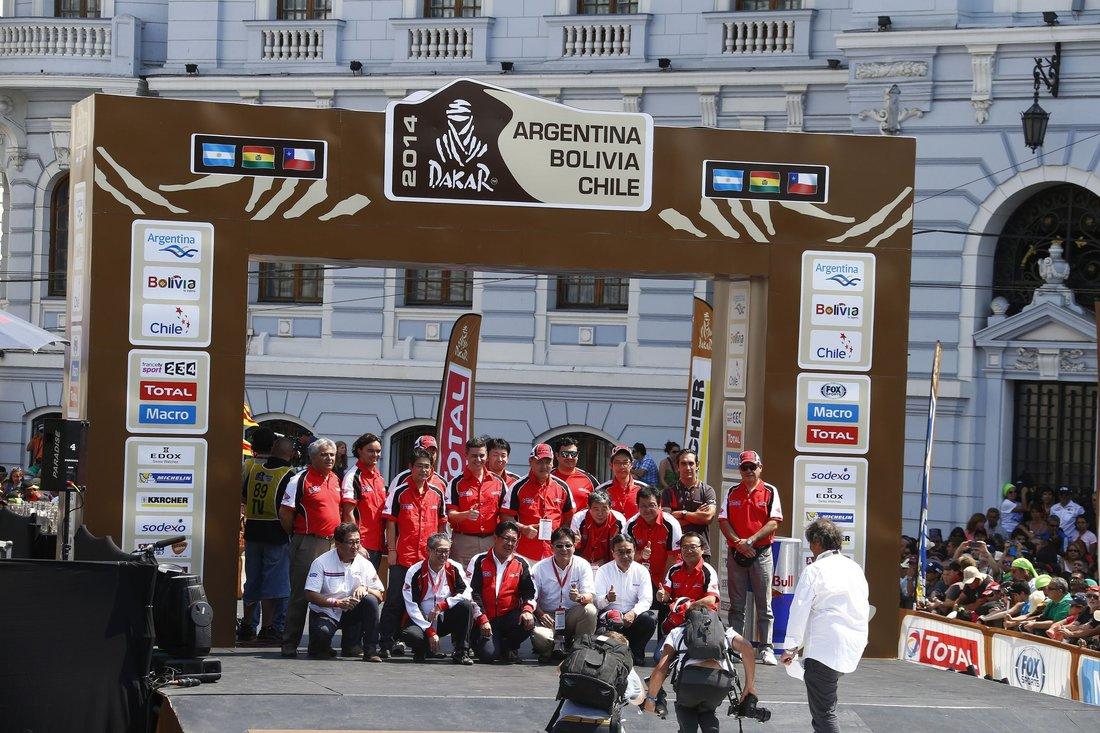 Dakar 2014 – pódium Honda