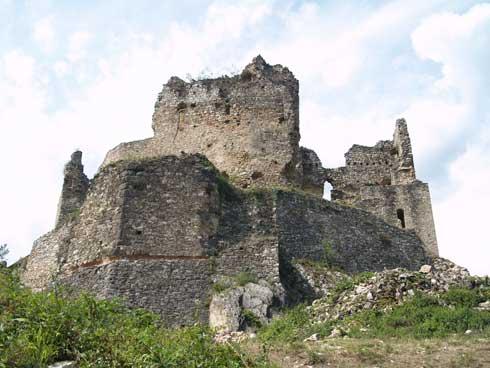 zrúcanina hradu Divin 1
