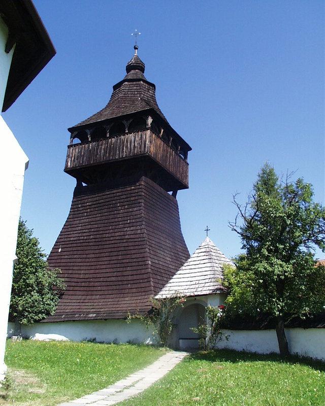 drevená zvonica v Starej Haliči