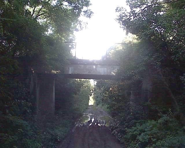 pohľad na most z poľnej cesty pred Veľkou Vsou
