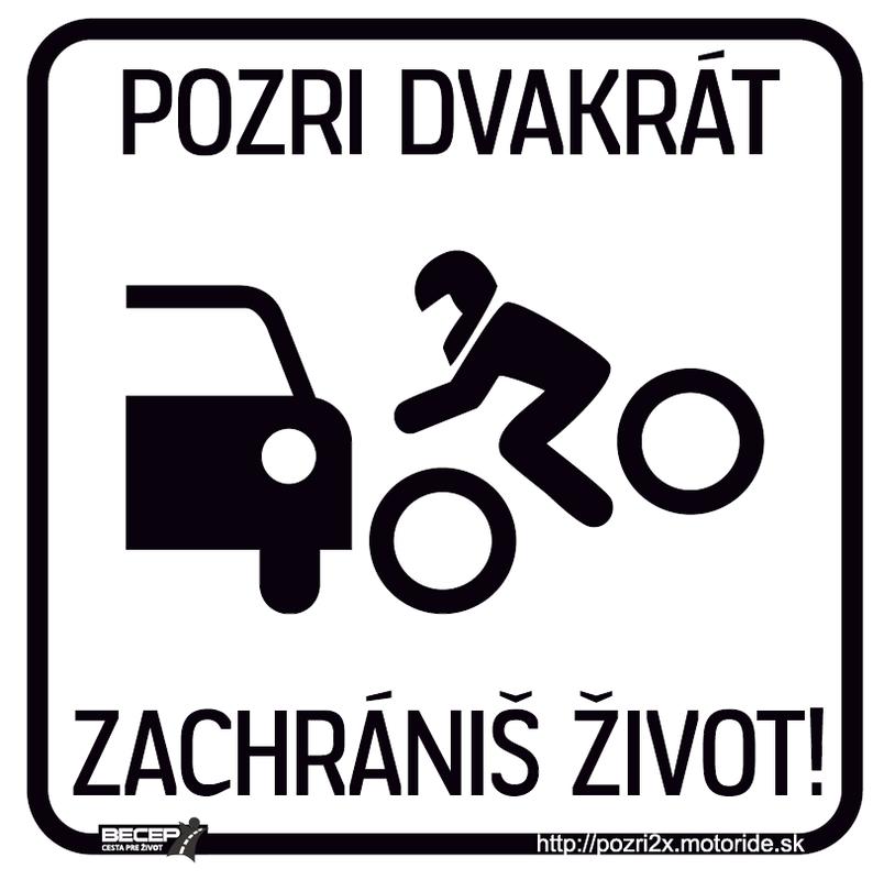 Pozri dvakrát, zachrániš život! - Nová grafika iný piktogram (vzor 2) - dizajn by justride