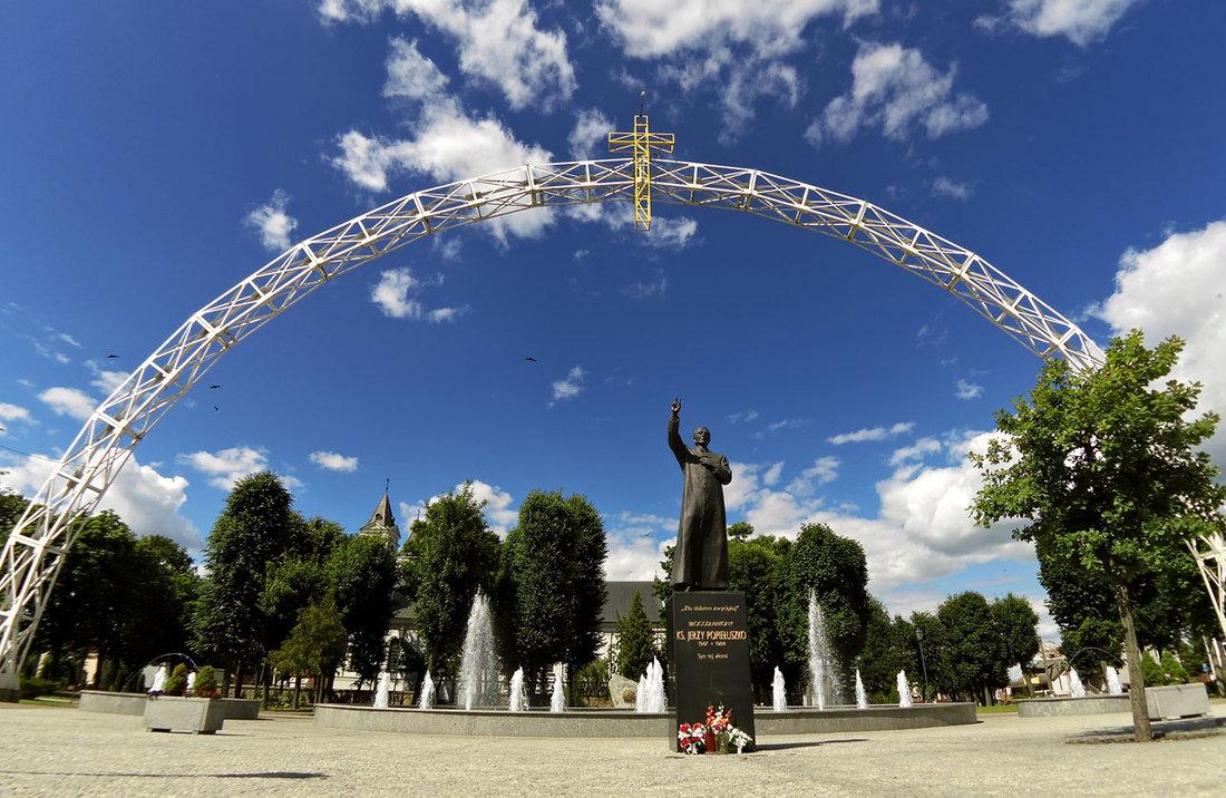 Krížom Európou 2014 - Stred Európy - Środek Evropy. Suchowola, Poľsko