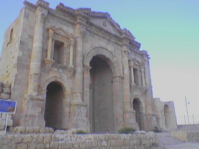 Jerash, zachovalé rímske a grécke mesto.