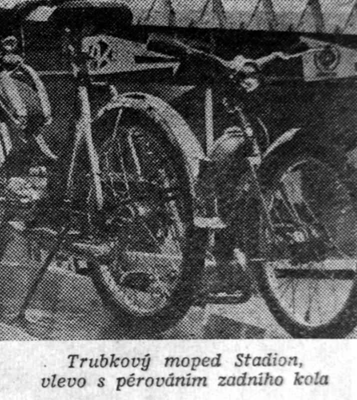 brnenský veltrh 1957 prototypy mopeda Stadion