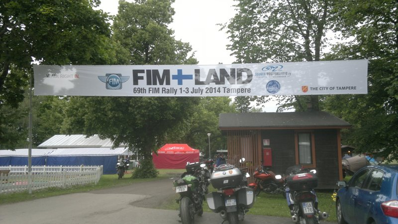RALLY FIM 2014 vo Fínsku - uvítací baner
