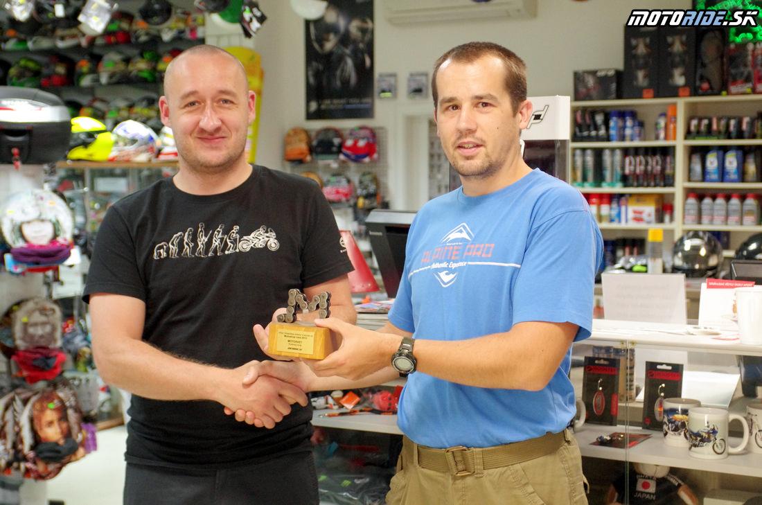 Odovzdanie trofeje Motoshop roka 2013 - Motosvet